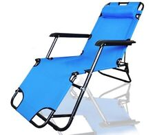 Portable Outdoor Reclining Chair (Zero Gravity Garden Lounge Pool Beach Camping)