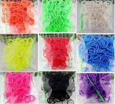 Loom Refill Bands Bracelet DIY Braided Rubber Bracelets WithS-clips Crochet Hook