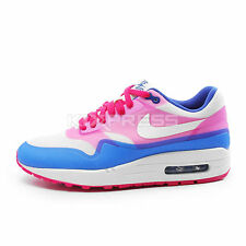 Nike WMNS Air Max 1 HYP PRM [579758-100] NSW Running Sail/Pink Force-Hyper Blue