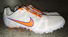 NEW Mens 5.5 12.5 NIKE Zoom Rival S Sprint Track Spikes Shoes White Orange Purpl