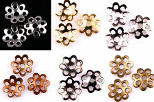 Wholesale 500Pcs Silver/Gold/Nickel/Bronze/Copper Metal Flower Bead Caps 6mm