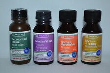 First Aid Antiseptic Tincture Merthiolate Iodine Decolorized Gentian Violet 1 oz