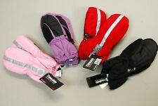 Toddler Kids 2T 3T 4T Purple Pink Black waterproof winter gloves Snow Boy Girls