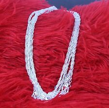 """1PCS 16-30inche  Fashion Jewelry 925 Silver """"Water Wave"""" Chain Necklace"""