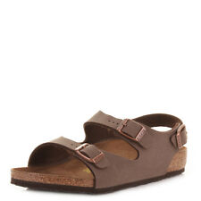 BOYS BIRKENSTOCK ROMA MOCCA BUCKLE STRAP FOOTBED SANDALS SHOES SIZE C 11 / EU 29