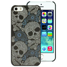 NEW Paisley Skull Pattern Hard Case for Apple iPhone 5 5S 4S 4 Plastic Cover