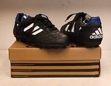 Adidas Stratos Liga Jr Soccer Cleats (Black/White/Royal Blue)