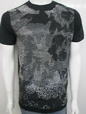 HUDSON MEN'S ROCOCO STUDDED TEE T-SHIRT 5793-BLK SELECT SIZE