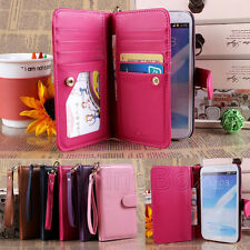 PU Leather Women Handbag Cash Pouch Wallet Phone Case for Samsung Galaxy Note 2