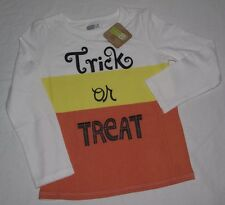 Girls L/S Tee Shirt Candy Corn Trick Treat Halloween 2T 3T 4T 5T 2 3 4 5 New Nwt