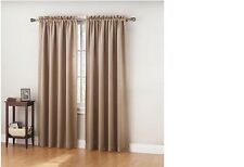 """NEW PAIR (2 pieces) BLACKOUT CURTAINS 108""""W x 63""""L or 108""""W x 84""""L DRAPES TAUPE"""