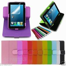 """Ratory Leather Case+Gift For 7"""" Double Power GS-718 D7020 EM63-BLK Tablet TY3"""