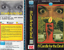 A CANDLE FOR THE DEVIL Movie POSTER Horror 80's VHS Art