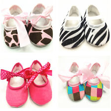 1 Pair 0-18M Baby Toddler Girl Child Cute Soft Sole Bow Cotton Crib Shoes New