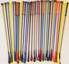Horse Riding Crop / Whip  ENGLISH MADE -  Loads of Colours - FREE POSTAGE