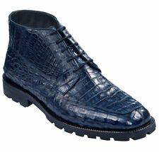 LOS ALTOS GENUINE ALL CROCODILE CAIMAN NAVY MEN ANKLE BOOT (EE) WIDTH ZA2068210