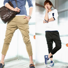 New Fashion Men's Stylish Harem Shorts Casual Slim Fit Pants Straight Trousers