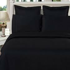 800TC Sale Soft 1-Piece Room Fitted Sheet 100%Cotton Solid Black (Queen/King)!Yo