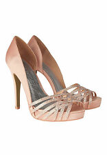 APART Pumps NEU UVP 129€ 36 37 38 39 40 41 Satin High Heel apricot 38984 2Wahl