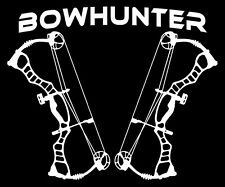 Bow Hunter Decal,Deer skull sticker,Compound bow,archery,deer hunting,bear