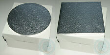 SILVER ROUND / SQUARE CAKE DRUM BOARD BOX SET 8- 16 INCH 12mm Thick Freepost