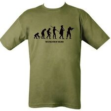 MILITARY T-SHIRT EVOLUTION OF SOLDIER MAN HUNTER UNISEX TOP ARMY MARINE SNIPER