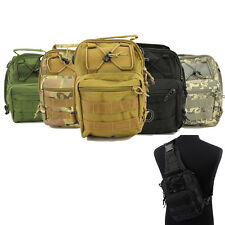 New 600D Molle Tactical Utility 3 Ways Shoulder Sling Pouch Backpack Chest Bag
