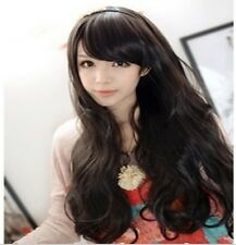 Long Curly Wavy Fluffy Hair Fashion Full Wigs Cosplay Party Daily Wear For Women