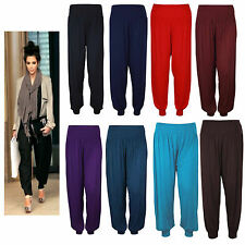 WOMENS LADIES ALI BABA HAREM FULL LENGTH BAGGY LEGGINGS TROUSERS PANTS SIZE 8-26