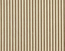 "84"" French Country Ticking Stripe Suede Brown Fabric Shower Curtain Cotton"