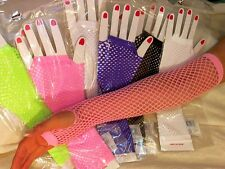 Fishnet Fingerless Elbow Length Gloves - Asst colors for dancer/clubwear/costume