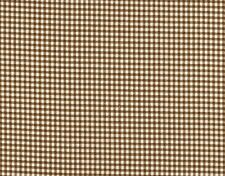 French Country Gingham Check Suede Brown 100% Cotton Bradford Valance Lined