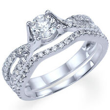 Diamond Engagement Ring Matching Wedding Band Bridal Set White Gold Diamond Ring