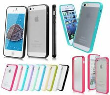 New Hard Matte Clear Back Case with Soft Silicone TPU Bumper for iPhone 5 5S 6