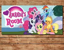 Personalised My Little Pony Kids Door Plaque