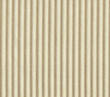 "2 French Country Ticking Stripe Linen Beige 24"" Curtain Panels Tiers Cotton"