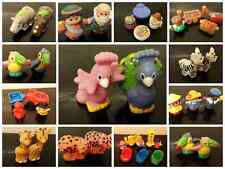 fisher price little people rhinos parrots cheaters mechanic cars fireman fruit