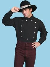 OLD WEST CLOTHING  SCULLY  CLASSIC COTTON CAVALRY SHIRT OW110 BLACK