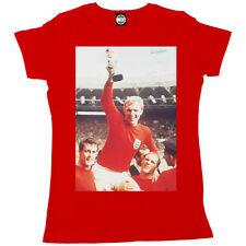 BOBBY MOORE ENGLAND FOOTBALL WORLD CUP 1966 FINAL WOMENS PHOTO PRINT T-SHIRT