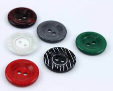 HOT SALE 60Pcs Shimmering Round 25mm 1'' Plastic Resin Buttons Colors for Pick