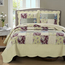 Luxury Tania Oversized Microfiber Coverlet Quilt Set with Pillow Shams