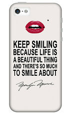 Marilyn Monroe Life is Beautiful Quote Phone Cover Case Vintage Retro Hollywood