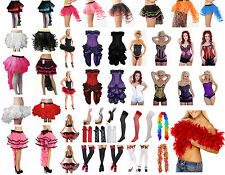 Womens Moulin Rouge Fancy Dress Bustle Corsets Frilly Tutu Burlesque Can Can