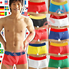 4 5 6 10 pcs Men's Boxer Brief Cotton Sexy  Men Underwear World Cup Flag M L XL