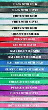 DIY Browband Supplies - 3x Meters 16mm Satin Ribbon GOLD Edge 8 Colours!