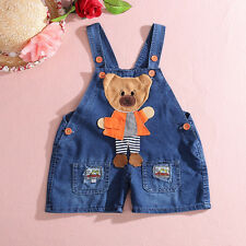 2014 Baby Boys Toddler Kids Summer Denim Jeans One-piece Rompers Playsuits Pants