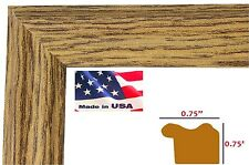 """Wholesale .75"""" Oak Wrapped Wood Wall Decor Picture Poster Frame"""