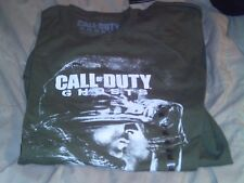 Call of Duty Ghosts Short Sleve Shirt- White on Olive- Size XL