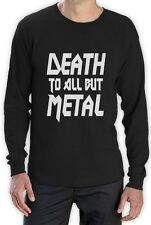 DEATH TO ALL BUT METAL Long Sleeve T-Shirt Panther Slogan heavy steel metal Top