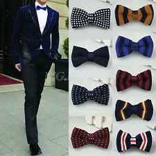 Adults Bowknot Men Knit Wedding Party Adjustable Neckwear BowTie Tuxedo Bow Tie
